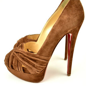 Christian Louboutin Shoes - Christian Louboutin Brown Leather Heels / Pumps